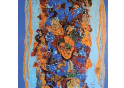 Composizione (la fiumara della vita) (2012) cm. 80x80