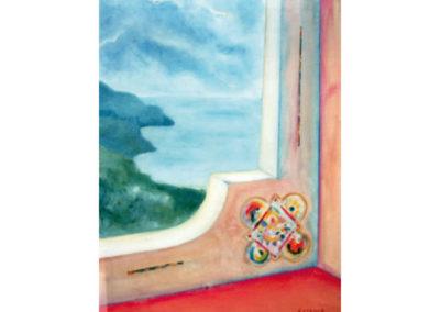Paesaggio Ligure, 1977 (collez. privata) olio su tela, cm. 70x50