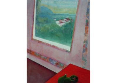 Paesaggio con natura silente, 1979 (collez. privata) olio su tela, cm. 70x50