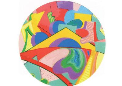 Figure euritmiche 3 (1991) cm. 70x70