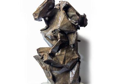 Il segno del tempo, 2016 scultura in lamiera di metallo, h. 70 cm