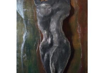Figura, 2017 tecnica mista su tela, cm. 100x80