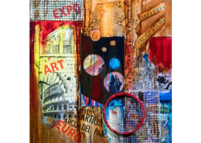 Gran Bazaar, 2018 tecnica mista su tela, cm. 100x80
