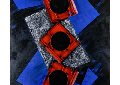 Rhytm Hard Rock, 2019 tecnica mista su tela, cm. 120x100