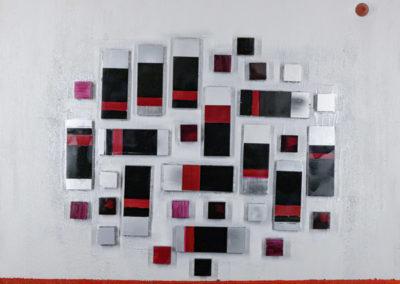 Composizione architettonica II, 2019 tecnica mista su tela, cm. 100x120