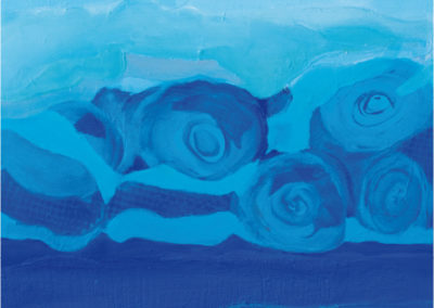 Isola blu (2011) cm. 80x80